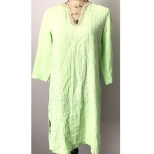 Lilly Pulitzer Sarasota Green Cotton Cover-Up D2